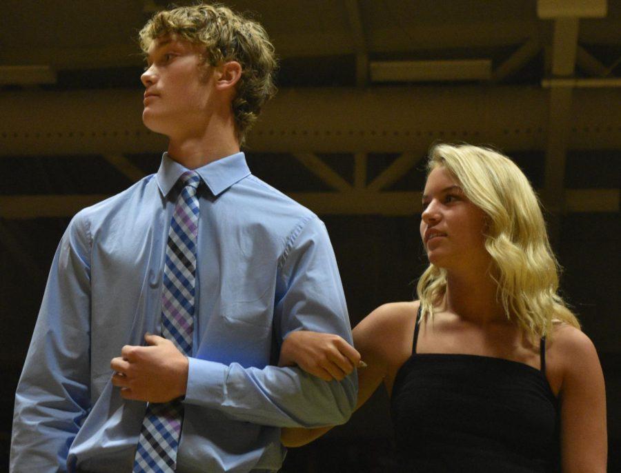 Homecoming candidates Charlie Haefner and Hannah Maus.