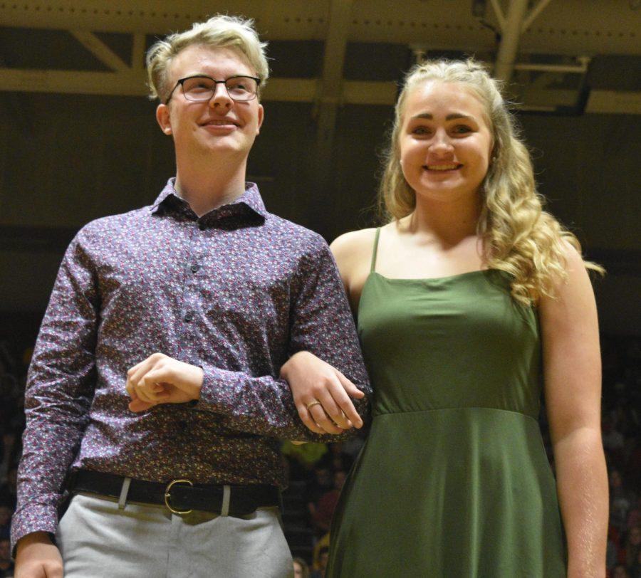 Homecoming candidates Sam Drish and Lauren Beer.
