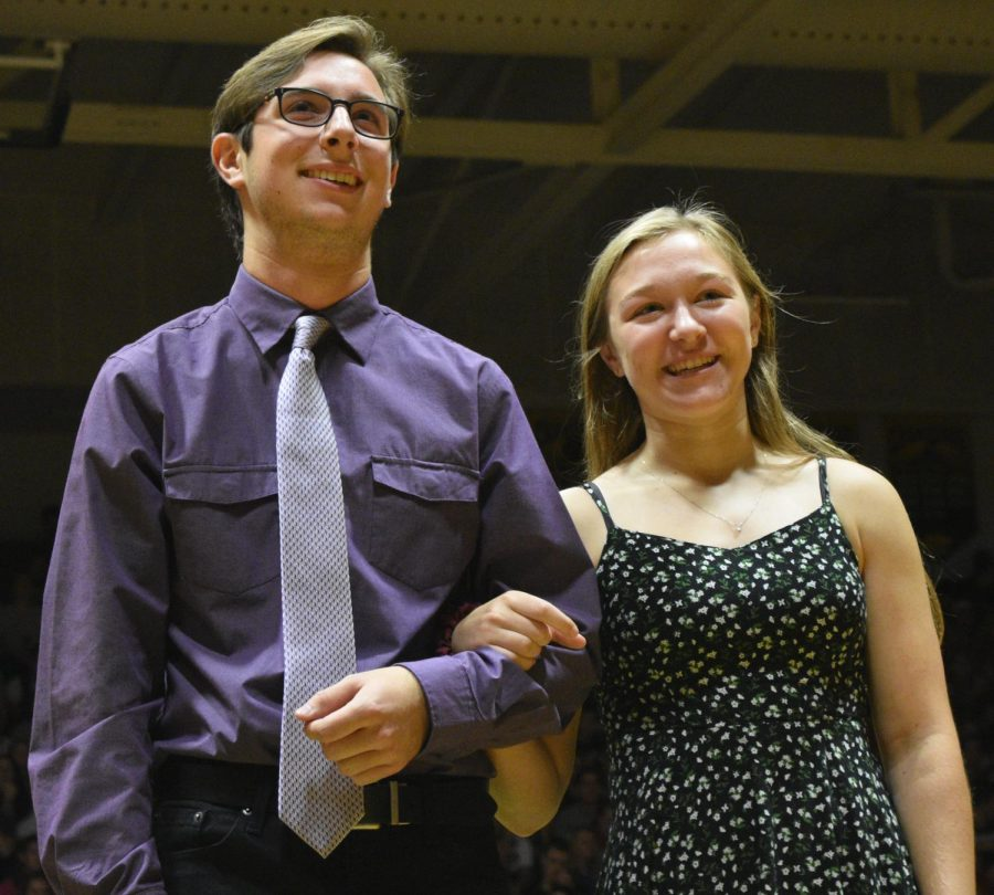 Homecoming candidates Cael Joens and Julia Schulte.