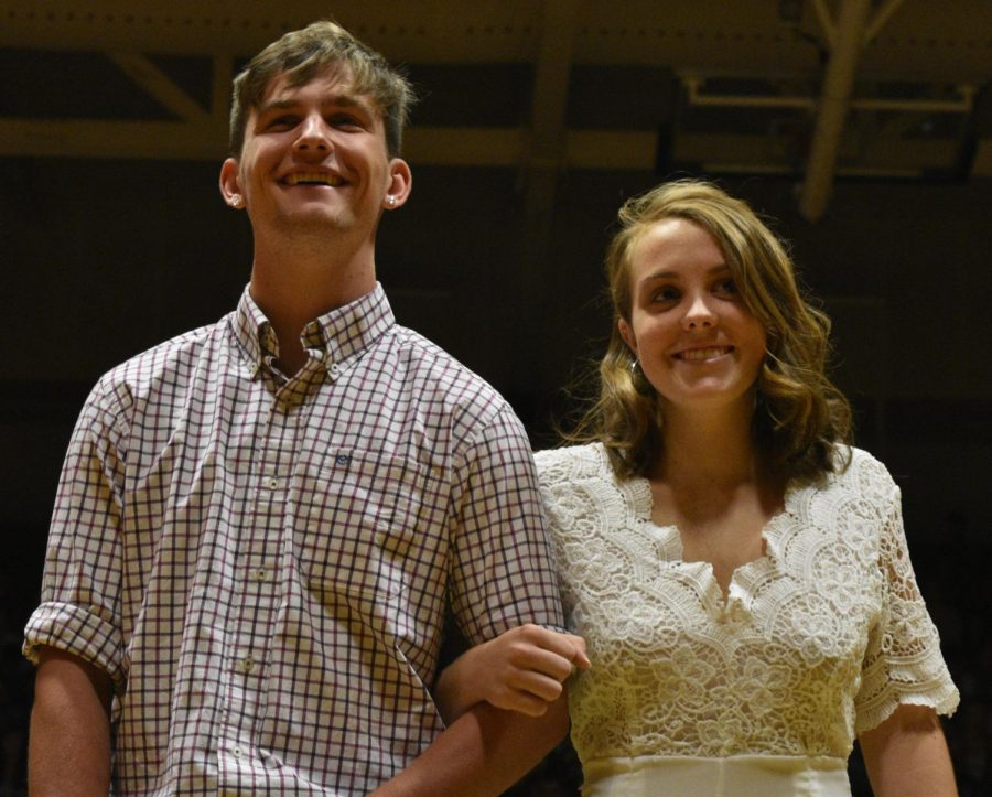 Homecoming candidates Michael Gallagher and Gwyn Smith.