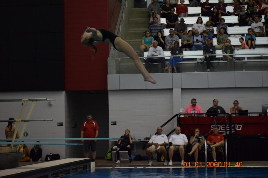 Anna Cater, floating on air.