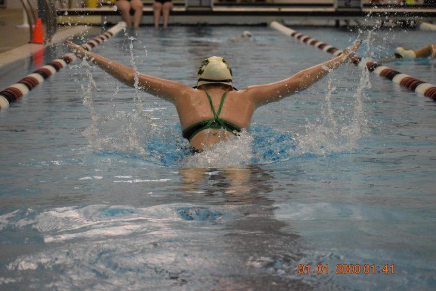 Freshman Megan Joseph, fly.