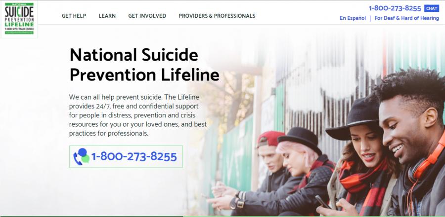 Suicide Hotline website.