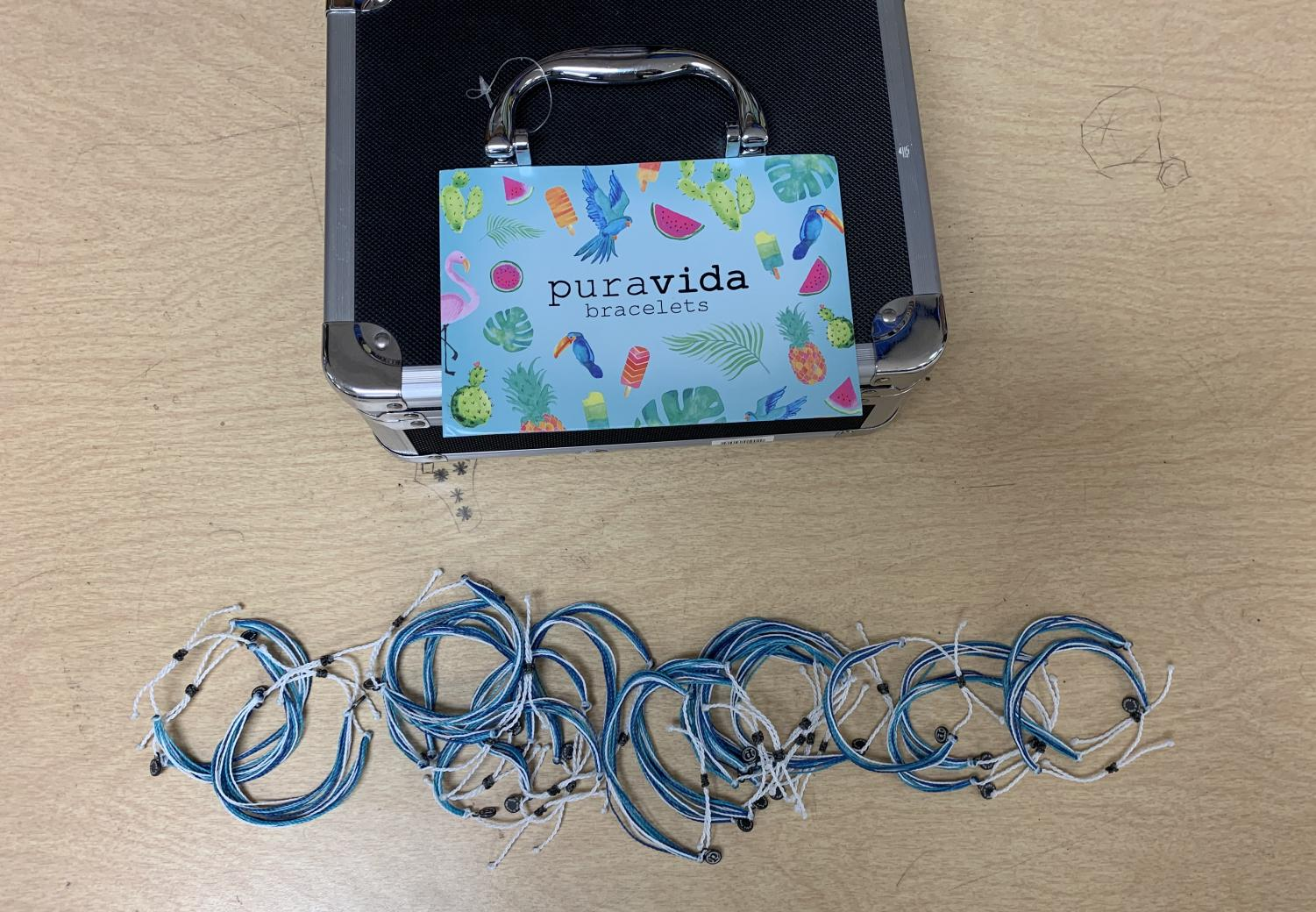KVDT is selling blue and white Pura Vida bracelets on Dec. 19 and 20 to raise money for the various items that the team needs throughout the season.