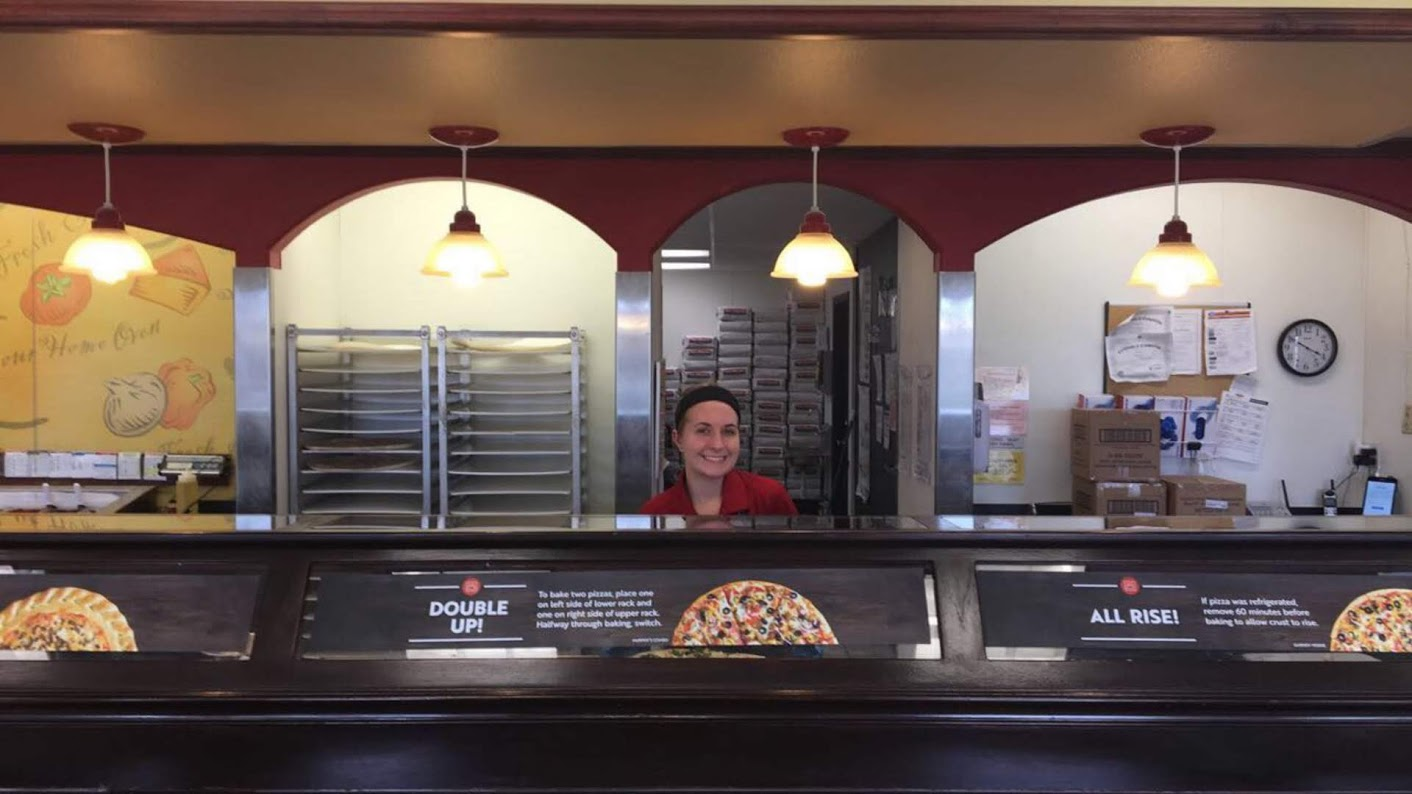 Olivia Conrad working at Papa Murphy's.