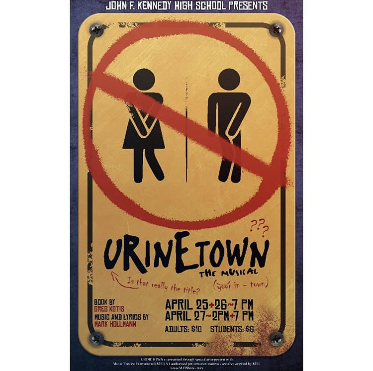 The Urinetown promotional posters.