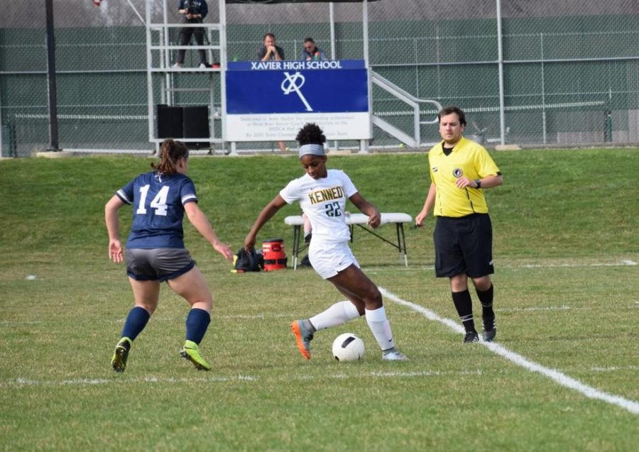Girl's Soccer Battles Against Xavier