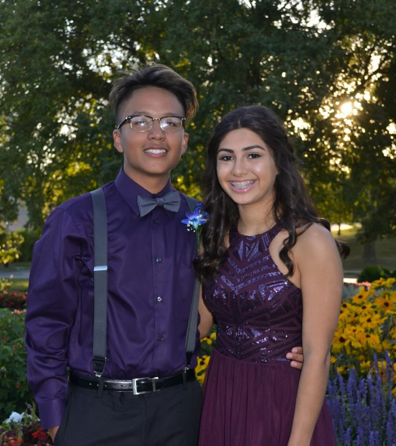 Daniel Juarez and date attending the 2018 homecoming dance.