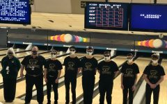 The Kennedy varsity boys bowling team prepares to compete at the state competition.