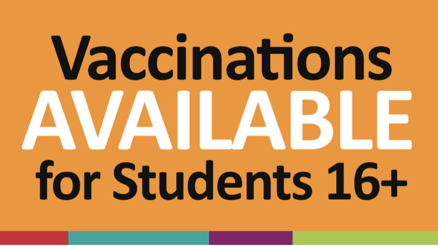 The CRCSD graphic telling students that the vaccine is available.