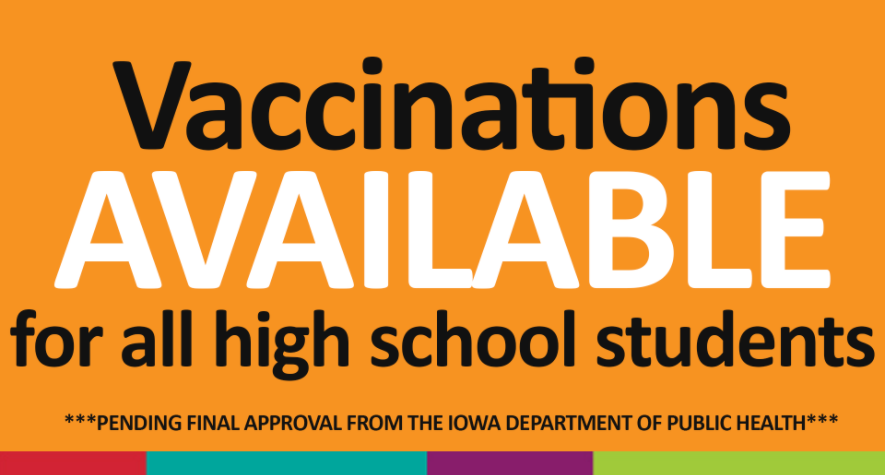 Vaccinations can be distributed to all CRCSD high school students