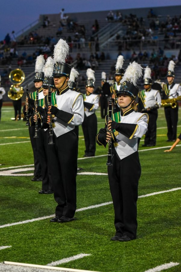 The Kennedy Marching Band performed before the game.