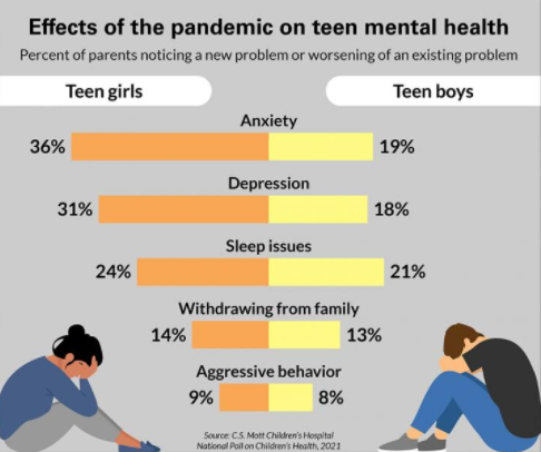 The Pandemic has taken a toll on teens mental health
